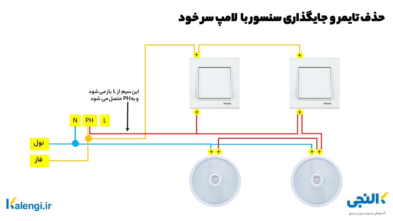 تبدیل تایمر راه پله به سنسور